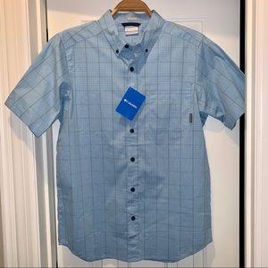 NWT Columbia Men's Active Fit plaid Shirt, size M